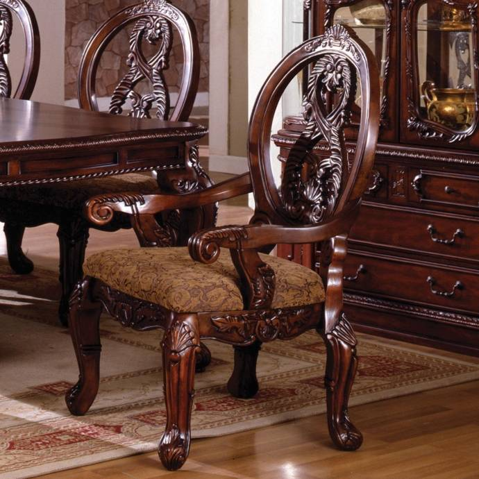 Traditional Furniture Online: Traditional Wood Dining Table In Brown Tuscany I By