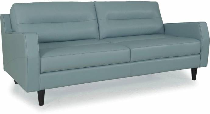 Prime Moroni Isabel 348 Bluette Top Grain Leather Upholstery Mid Century Sofa Frankydiablos Diy Chair Ideas Frankydiabloscom
