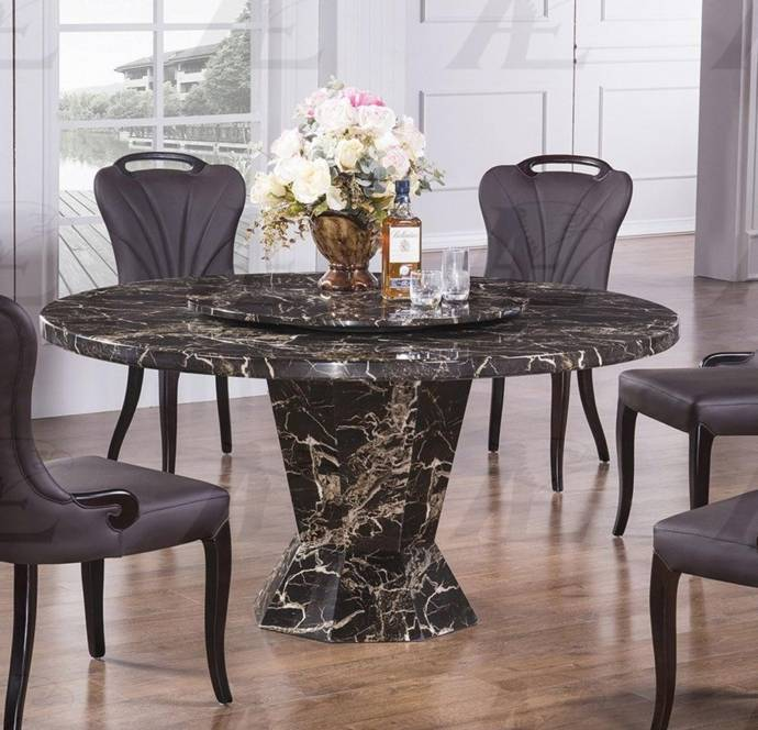 American Eagle Furniture DT-H33 Marble Top Round Dining