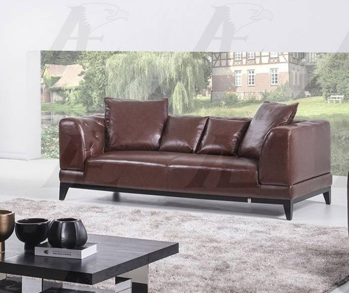 American Eagle Furniture EK065-BR Brown Sofa Loveseat And