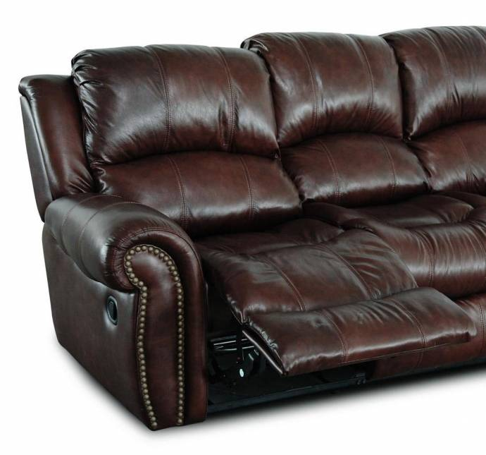 MYCO Furniture Gretna Burgundy Modern Leather Power