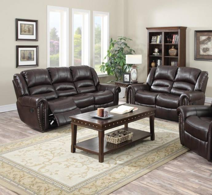 Roomstore Furniture Store: MYCO Furniture Abbie Burgundy Leather Nailhead Air