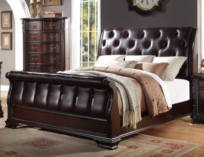 Crown Mark Sheffield Traditional Rich Cherry Solid Wood ...