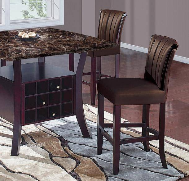 Global Furniture Modern Dark Brown Wood Dining Table With