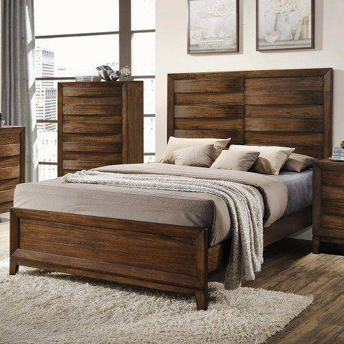 Solid Wood King Size Bedroom Furniture: Crown Mark RB6900 Kelton Rich Brown Finish Solid Wood King