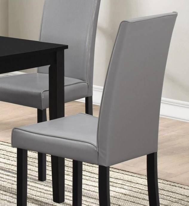 Buy Dining Room Furniture Online: MYCO Furniture Drake Rectangular Table & Grey PU Chairs