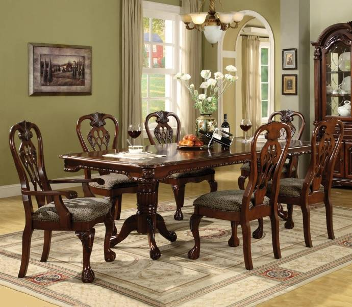 Buy Dining Room Furniture Online: Crown Mark 7 Pc Brunswick Formal Dining Room Set, Includes
