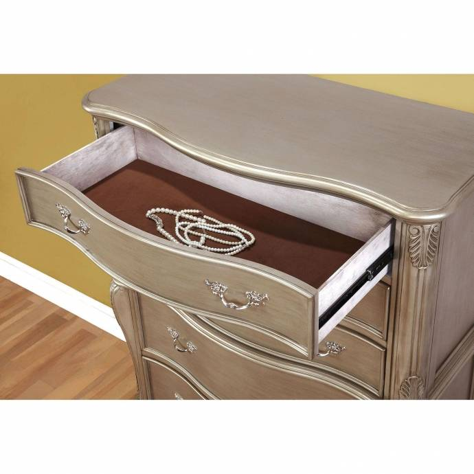Furniture Store Online Usa: Traditional Wood Chest In Gold Johara By Furniture Of