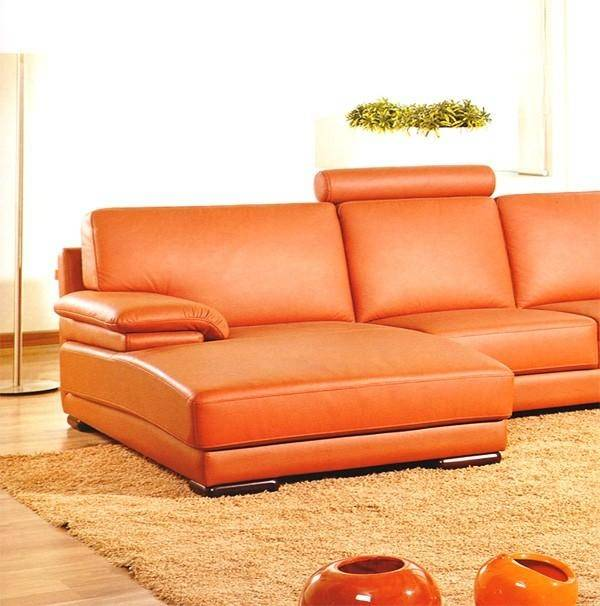 Contemporary Genuine Leather Sectional Sofa Left Chaise Modern Soflex  Atlanta