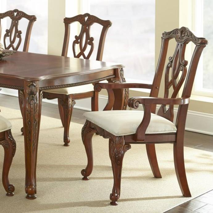 Traditional Furniture Online: MYCO Furniture Charity Traditional Cherry Finish Carved