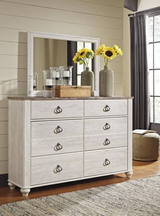 Complete Bedroom Furniture Sets: Ashley Willowton B267 Full Size Sleigh Bedroom Set 5pcs In