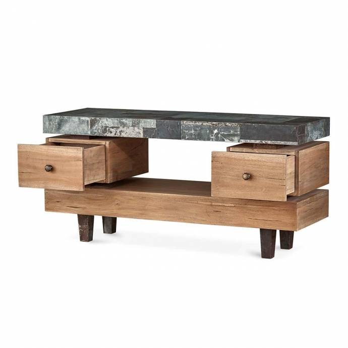 Roomstore Furniture Store: Bramble 25607 Vintage Oak Small Remi TV Stand Solid Wood