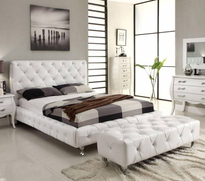 Bedroom Furniture Usa: At Home USA Maria Full Size Bedroom Set 2pcs In White