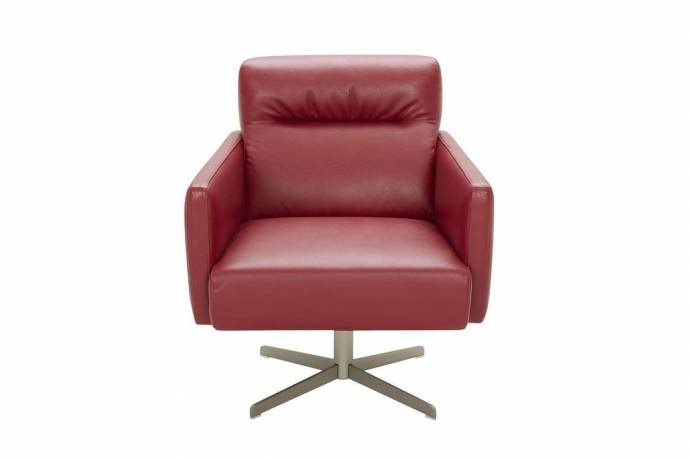 Awesome Jm Jaeger Modern Red Premium Italian Leather Upholstery Accent Chair Uwap Interior Chair Design Uwaporg