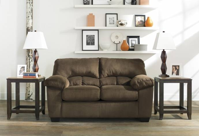 Ashley Dailey 3 Piece Living Room Set in Chocolate (95403 ...