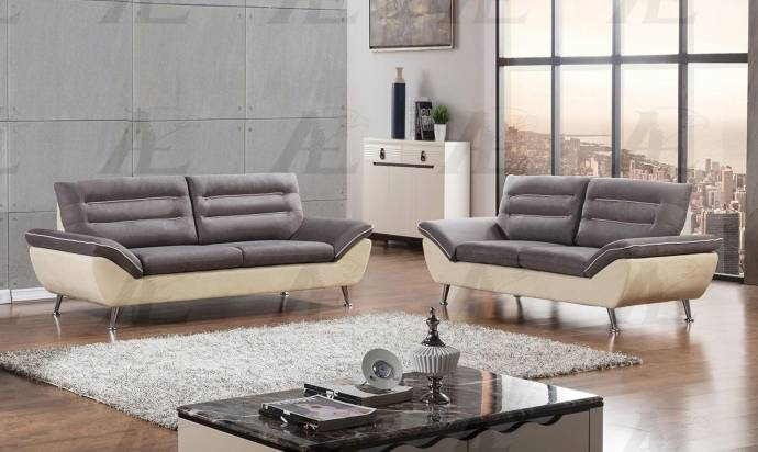 American Eagle Furniture AE2365 Gray And Yellow Sofa And