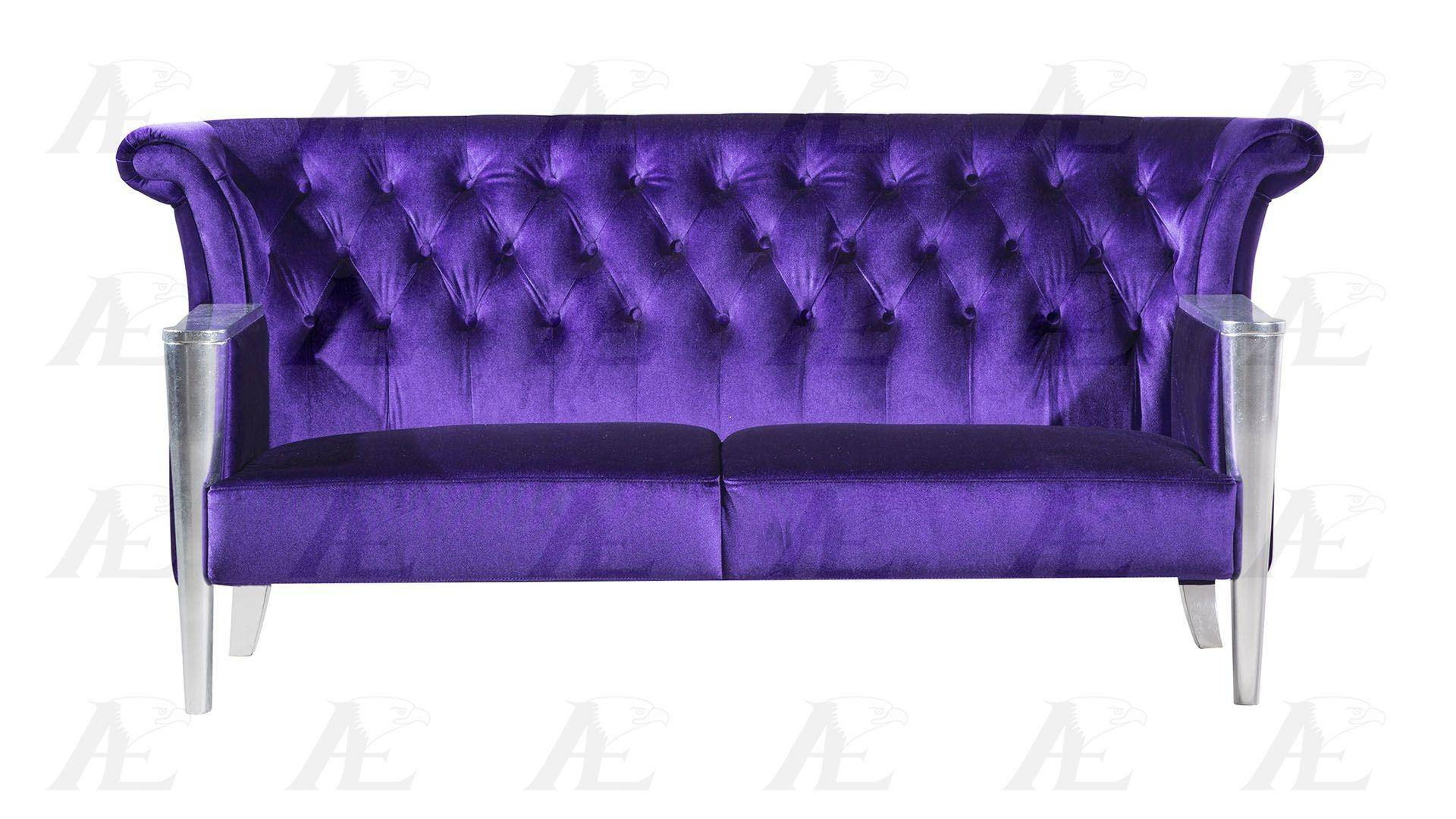 Fantastic American Eagle Furniture Ae592 Purple Sofa Loveseat And Gmtry Best Dining Table And Chair Ideas Images Gmtryco