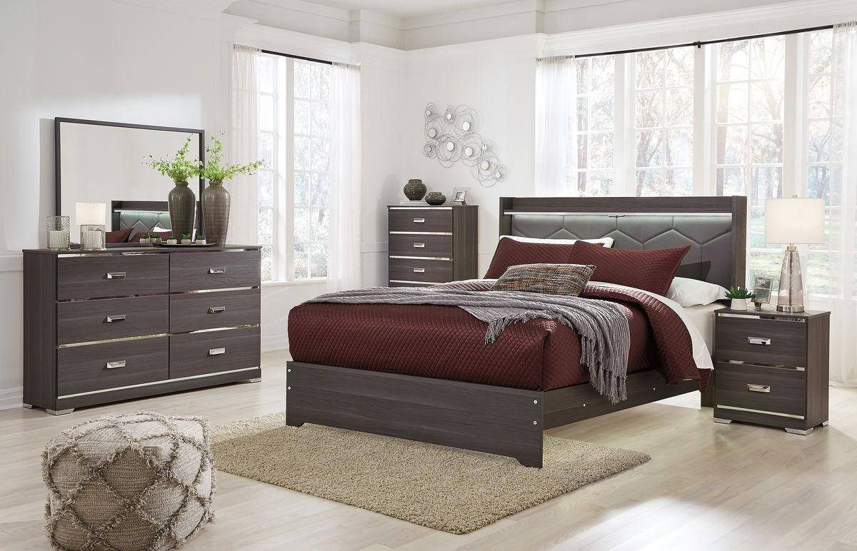 Ashley Annikus B132 Queen Size Uph Platform Bedroom Set