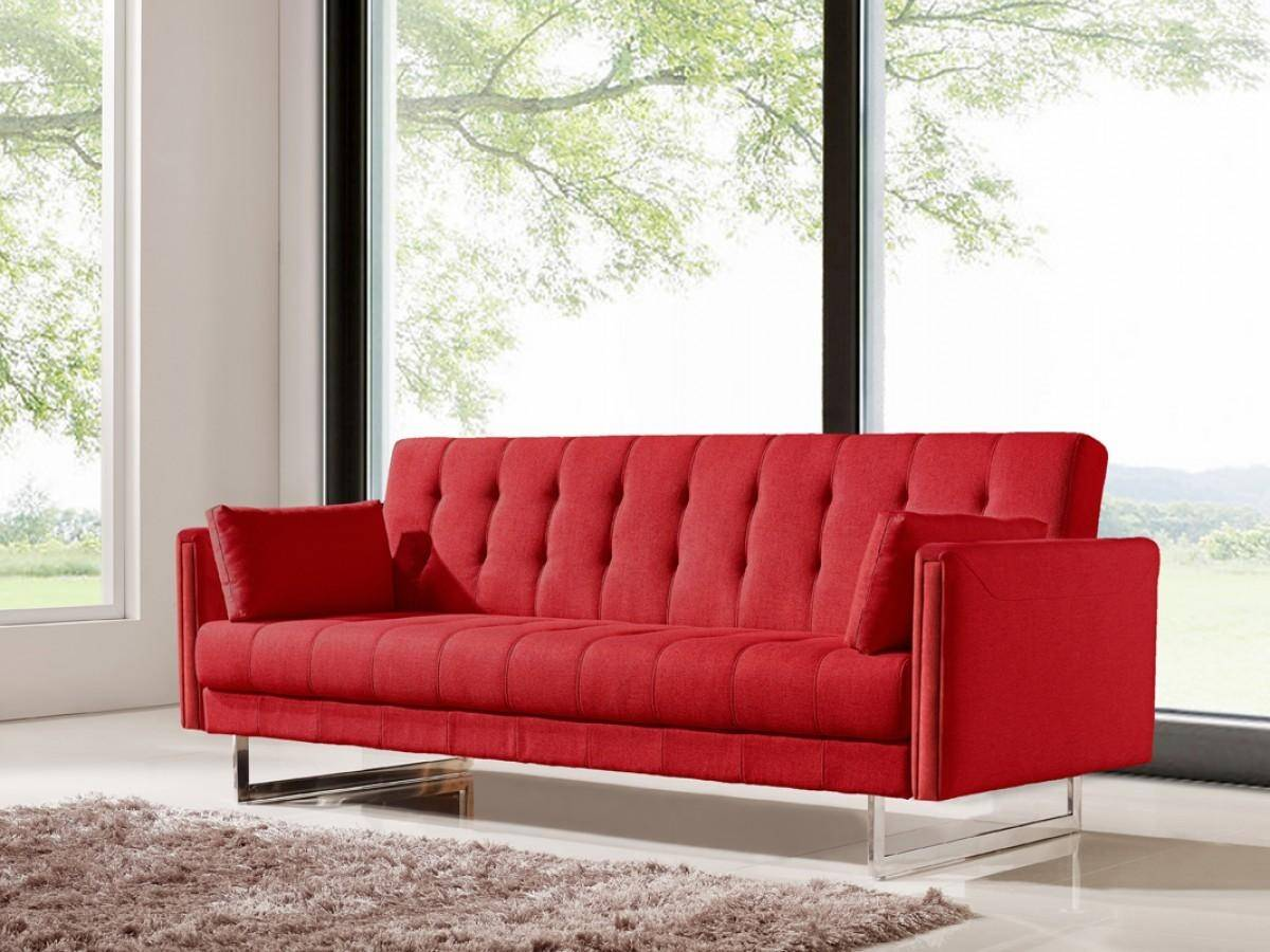 VIG Divani Casa Tejon Red Fabric Sofa Bed Contemporary Modern