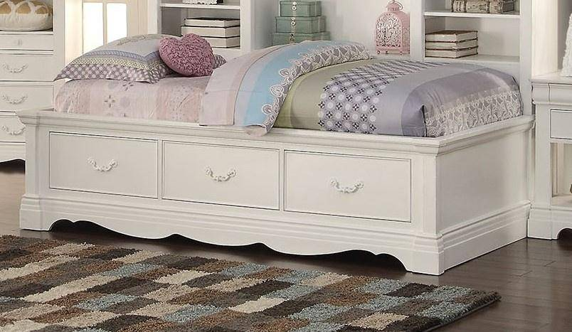 acme 39150 estrella kids white storage twin daybed set 4pcsw sudent rh nyfurnitureoutlets com