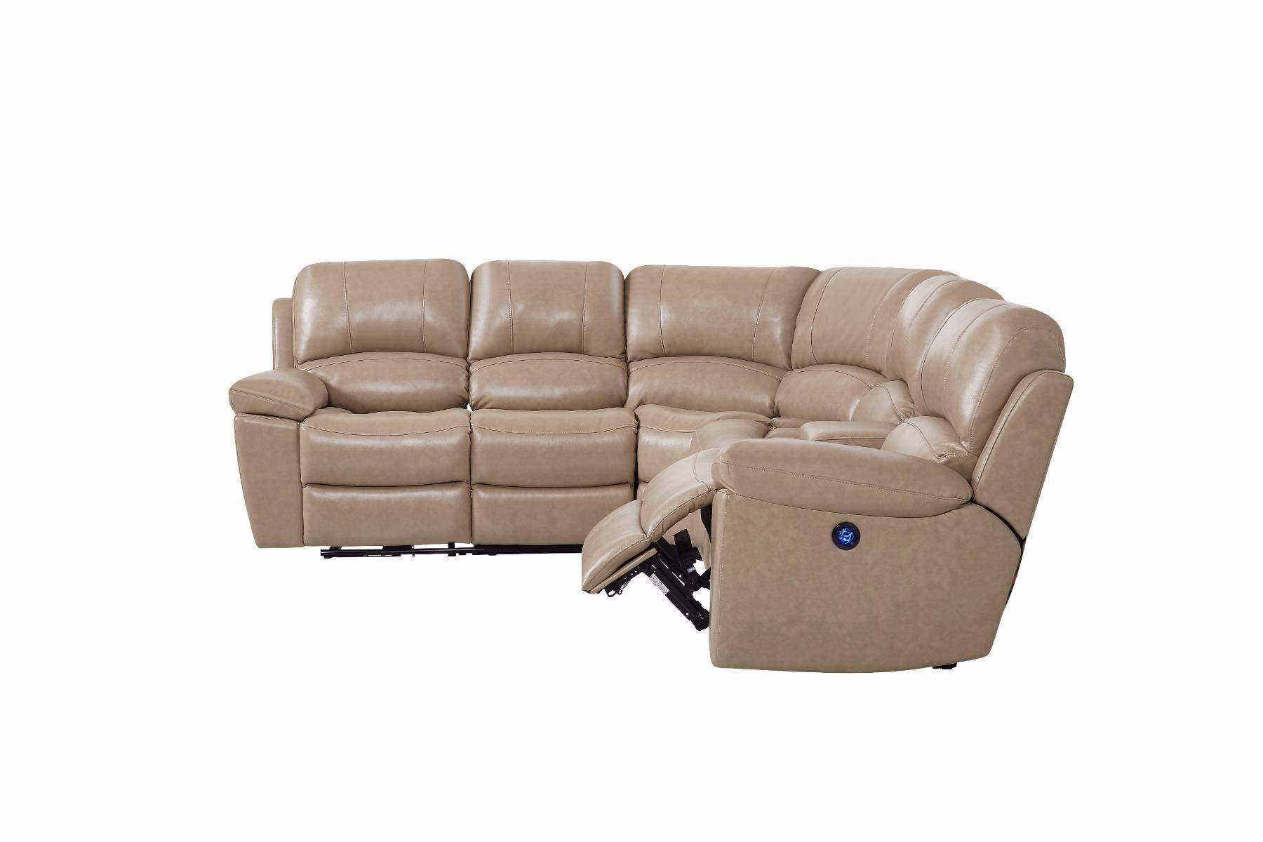global furniture u15026 glove tan leather reclining sectional sofa rh nyfurnitureoutlets com