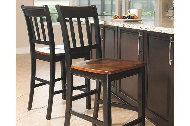 ashley owingsville d580 dining room set 7pcs in black brown square rh nyfurnitureoutlets com