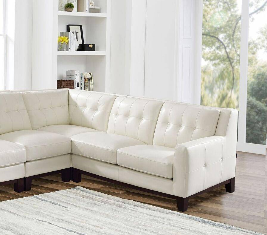 top grain leather white sectional sofa nicola hydeline contemporary rh nyfurnitureoutlets com