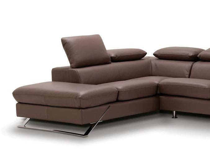 esf caracas full leather sectional sofa left hand chase contemporary rh nyfurnitureoutlets com