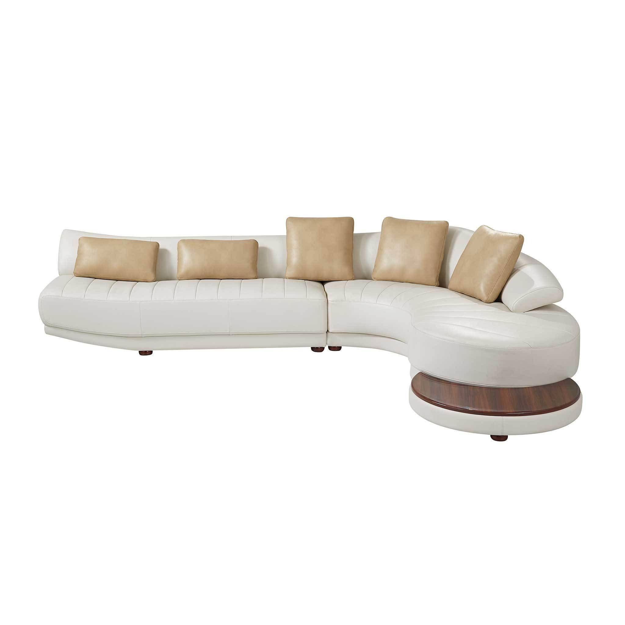 Global Furniture UFM208-SecET Modern Off White Leather Gel ...