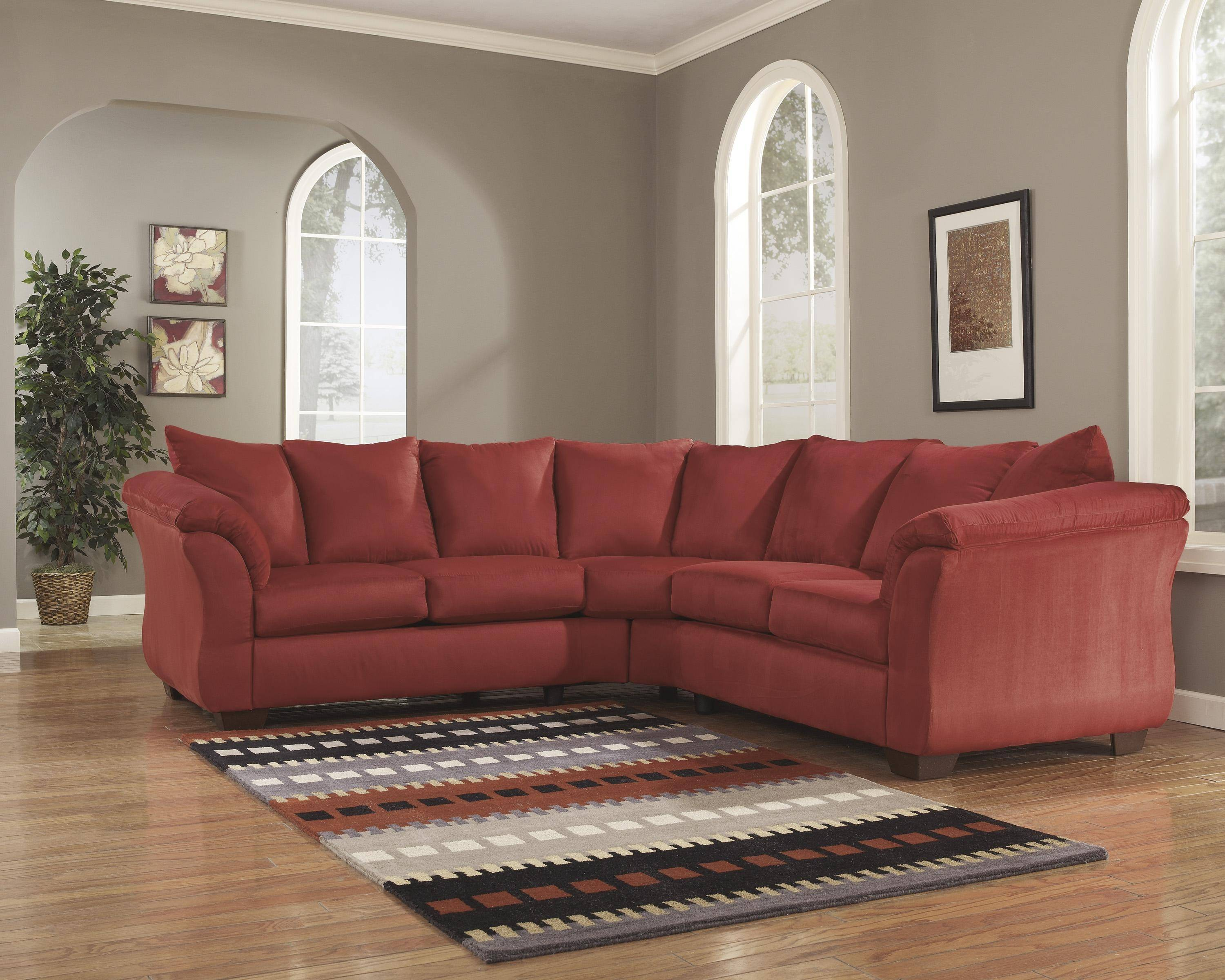 Astonishing Ashley Darcy 2 Piece Sectional In Salsa 75001 55 56 Kit Gmtry Best Dining Table And Chair Ideas Images Gmtryco