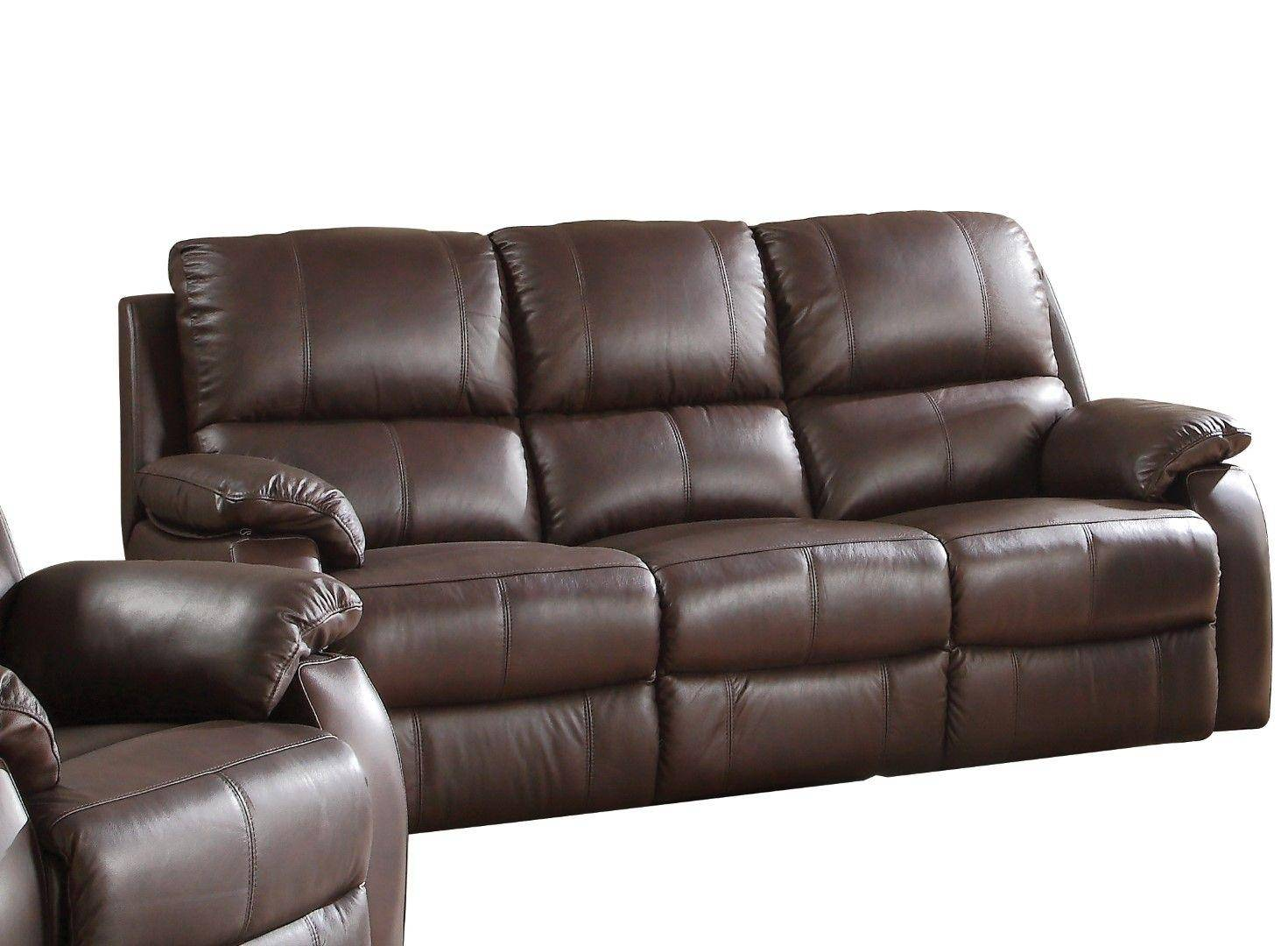 Groovy Dark Brown Bonded Leather Reclining Sofa Loveseat Acme Caraccident5 Cool Chair Designs And Ideas Caraccident5Info