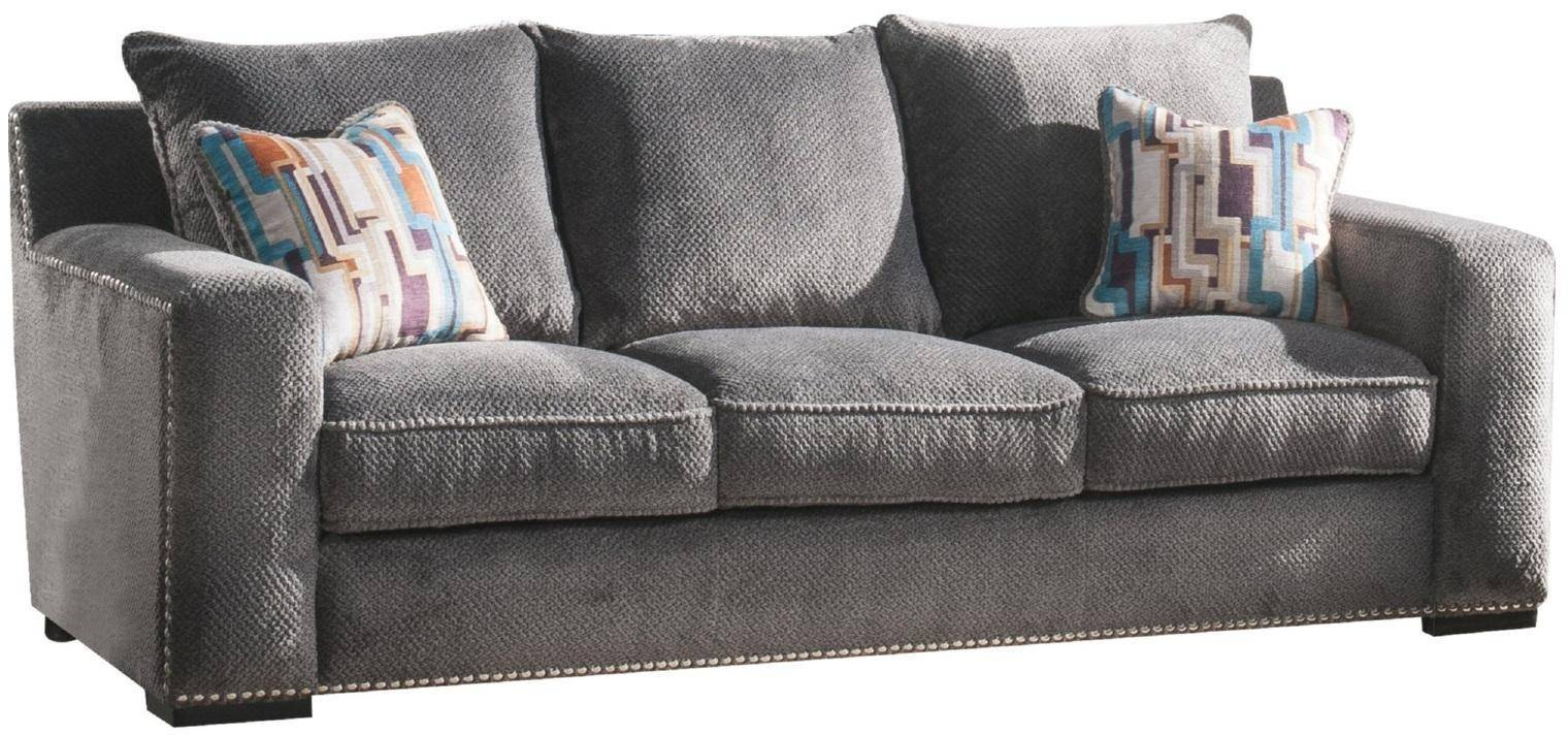 Terrific Grey Fabric Casual Sofa Loveseat Acme Furniture 53190 Gamerscity Chair Design For Home Gamerscityorg