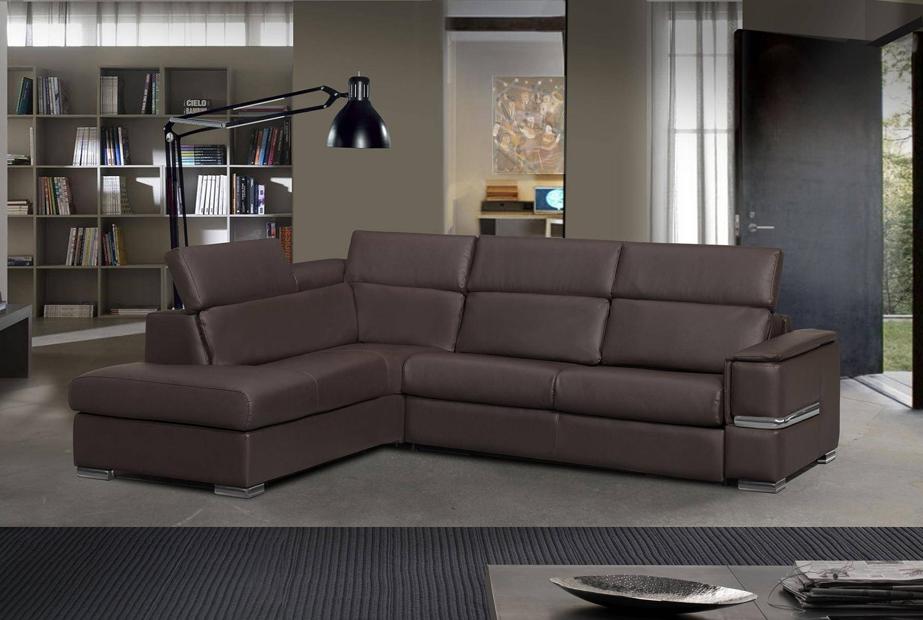 Excellent Esf Chiara Modern Grayish Brown Sectional Sofa Bed Left Hand Chase W Sleeper Pdpeps Interior Chair Design Pdpepsorg