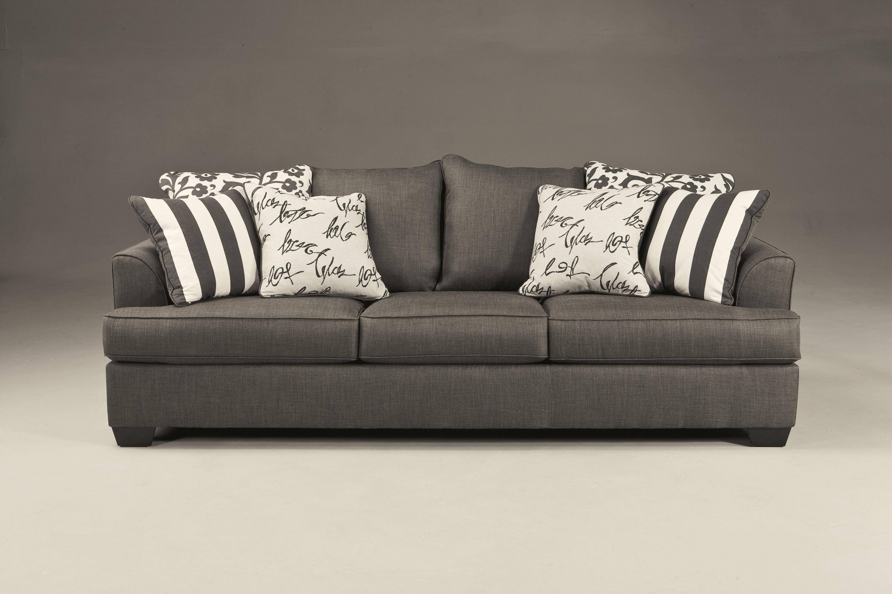 Ashley Levon 2 Piece Living Room Set In Charcoal 73403 38