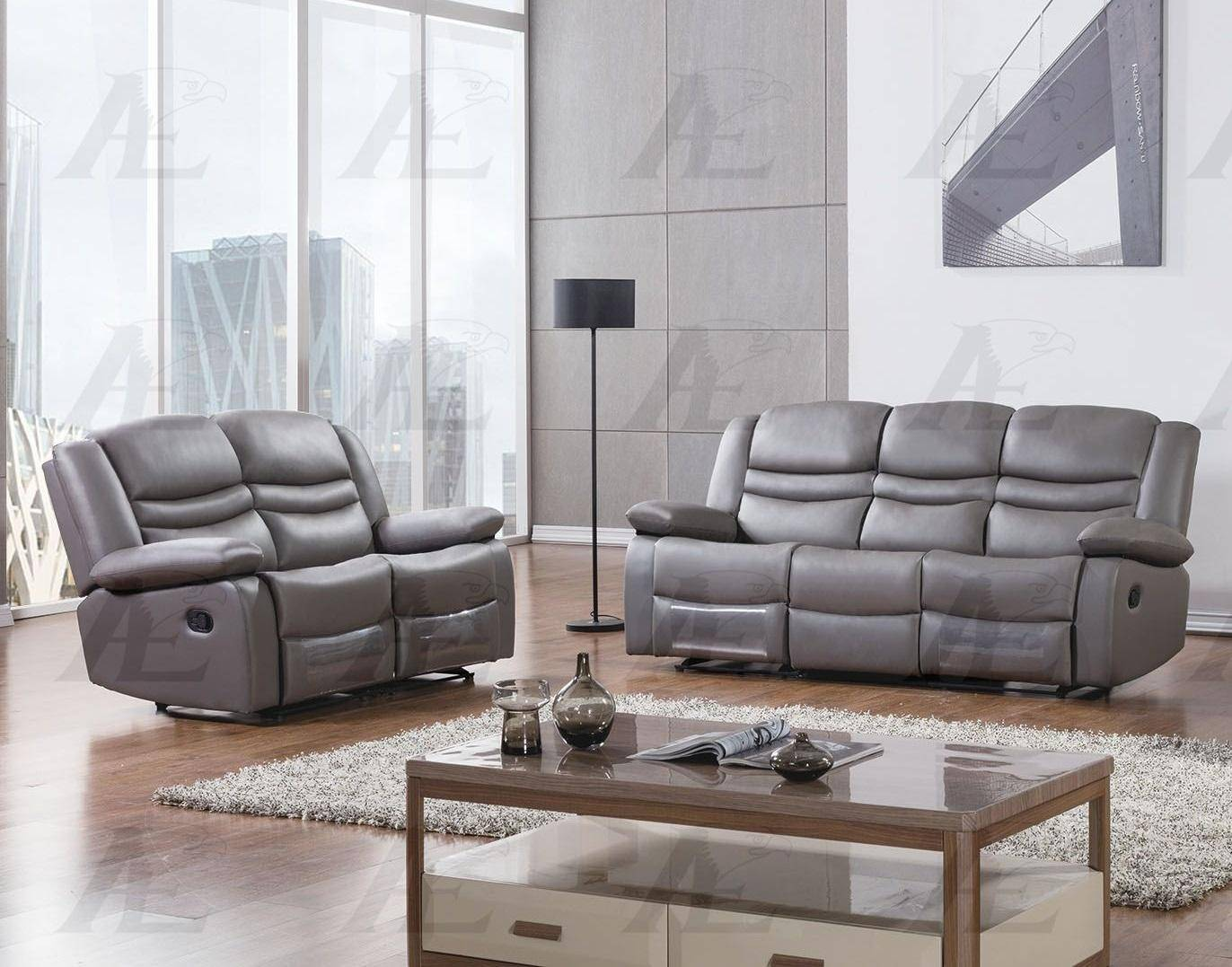 Peachy American Eagle Ae D823 Dg Dark Gray Modern Faux Leather Sofa Cjindustries Chair Design For Home Cjindustriesco