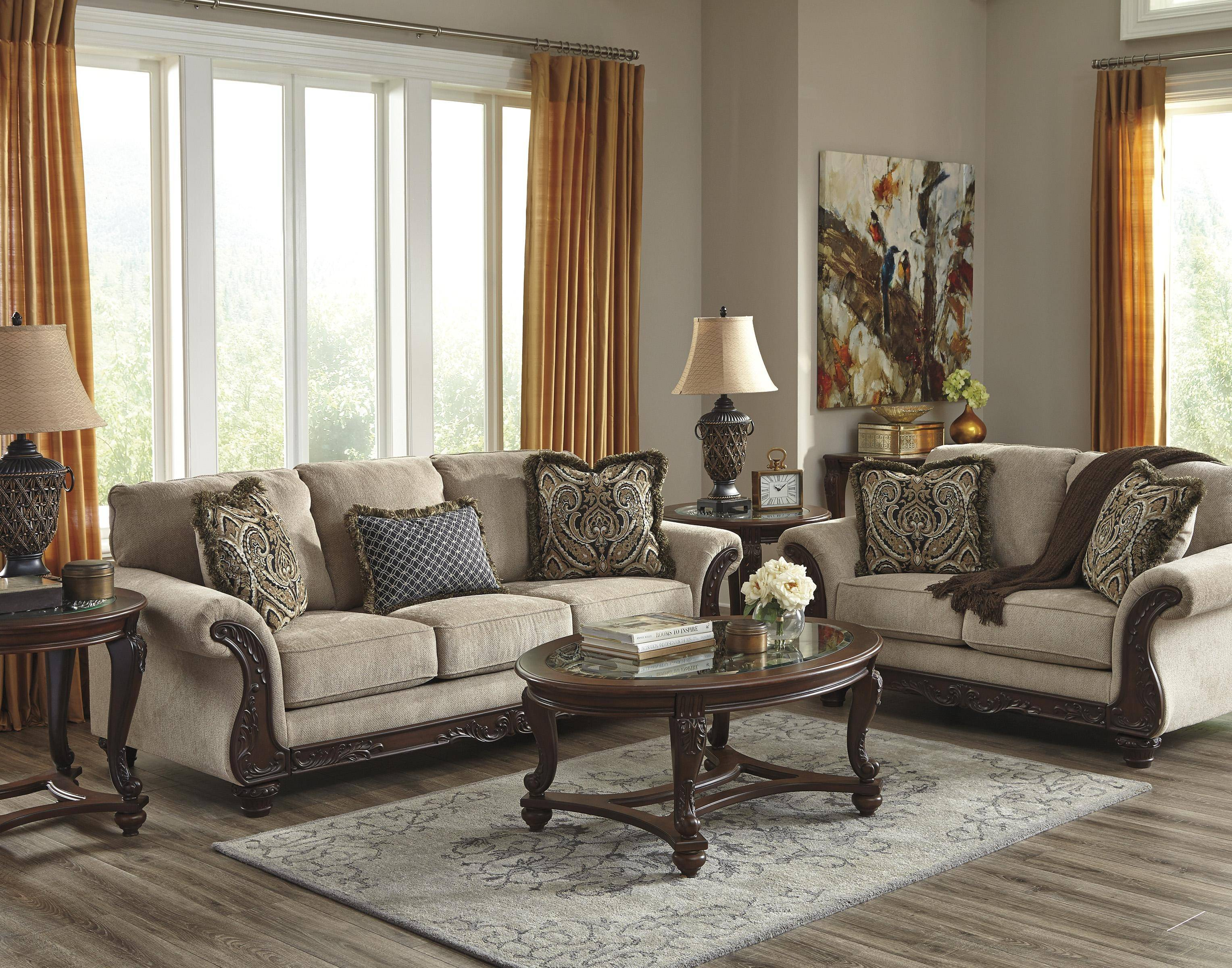 Ashley Laytonsville 2 Piece Living Room Set In Pebble 72002 38 35 Kit