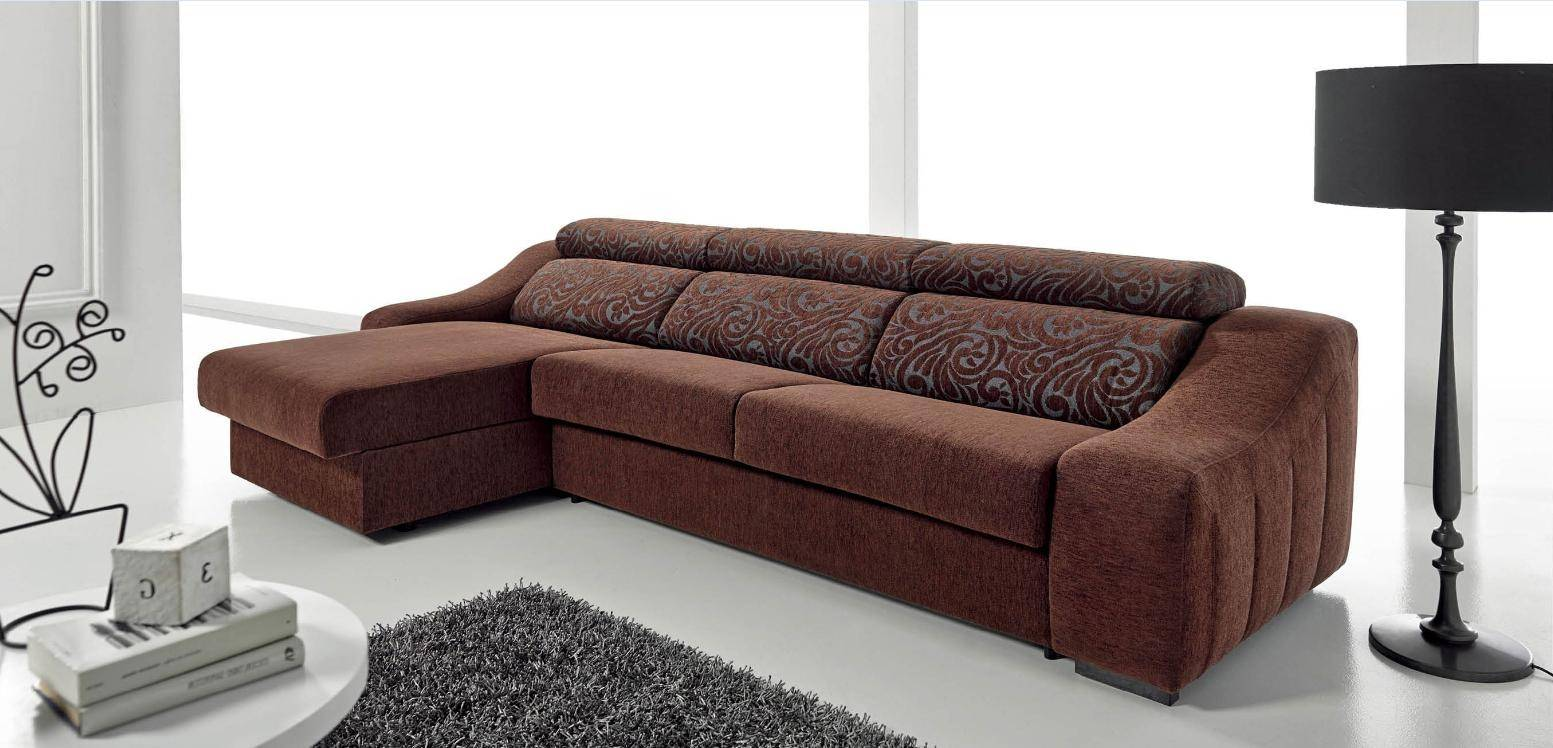ESF Ronaldo Brown Chic Fabric Left Sectional Sofa Sleeper ...