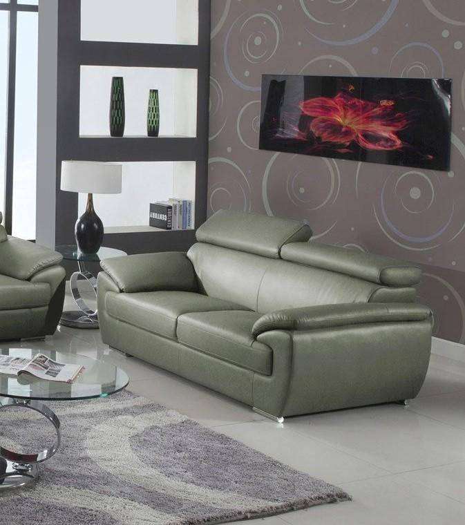 Surprising Contemporary Gray Leather Match Sofa Loveseat Set 2Pcs Andrewgaddart Wooden Chair Designs For Living Room Andrewgaddartcom