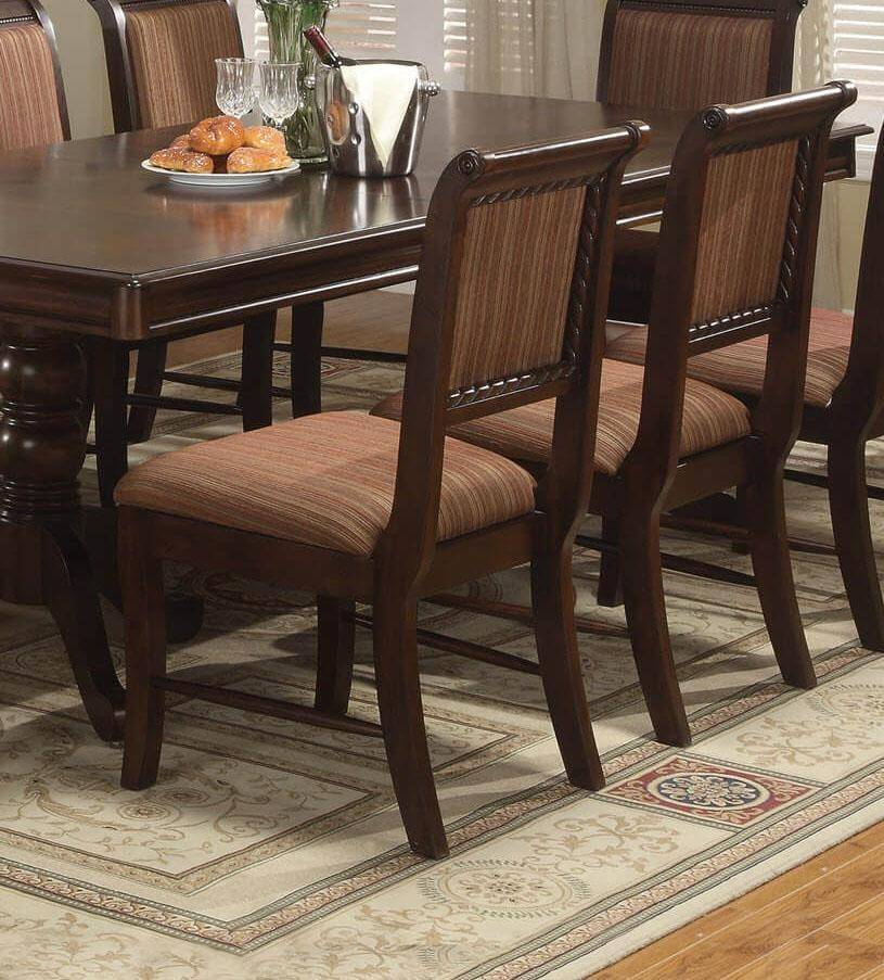 buy dining room set clarity photographs | Crown Mark 2145 Merlot Classic Cherry Finish Solid Wood ...
