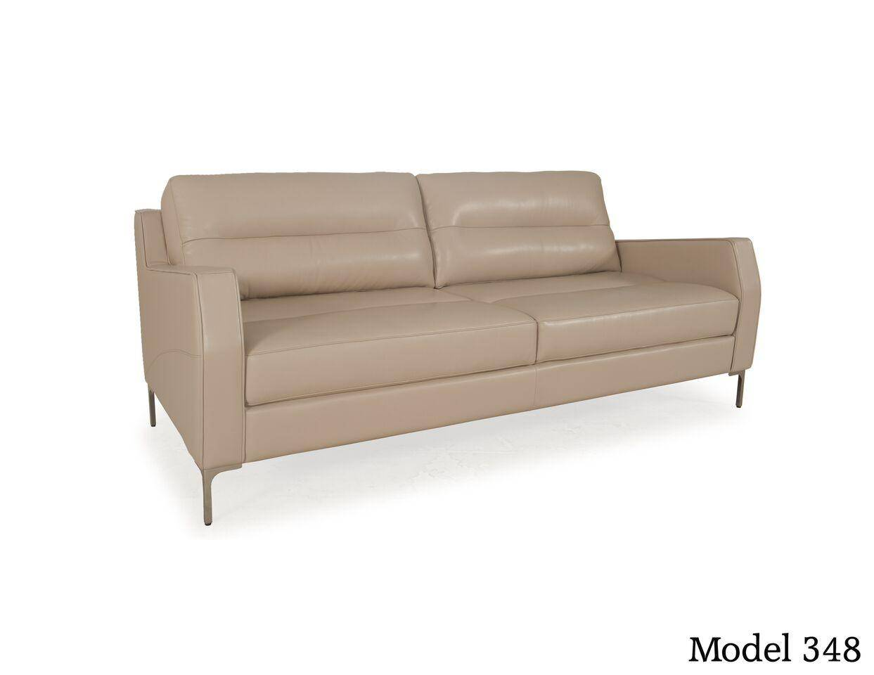 Moroni Isabel 348 Top Grain Leather Upholstery Mid-Century Sofa SPECIAL  ORDER