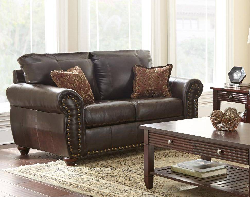 Myco Furniture Ka106 Br Set 2 Riviera Clic Brown Leather