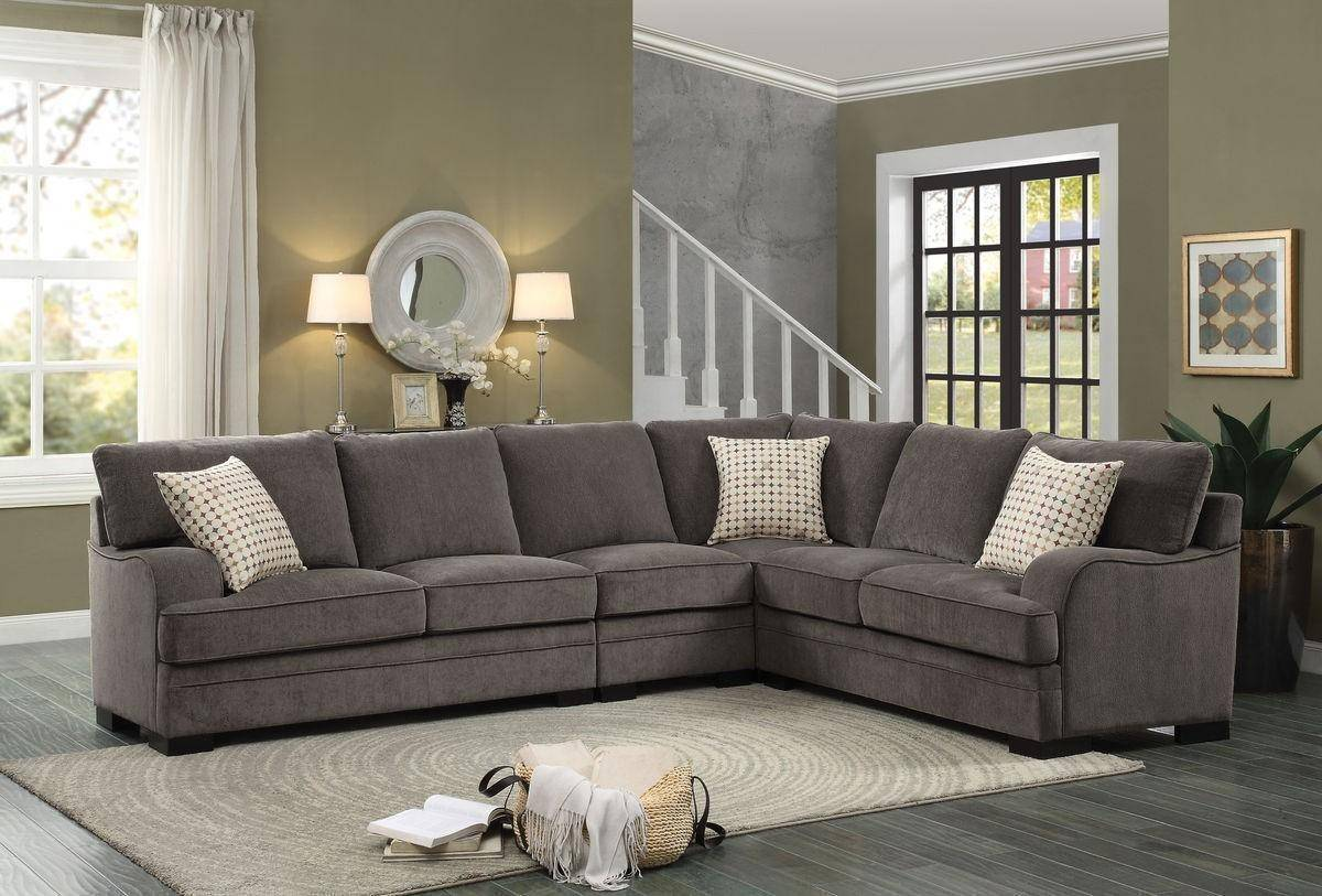 on sale 288b1 e1509 Homelegance 8335 Alamosa Casual Brown Chenille Sectional ...