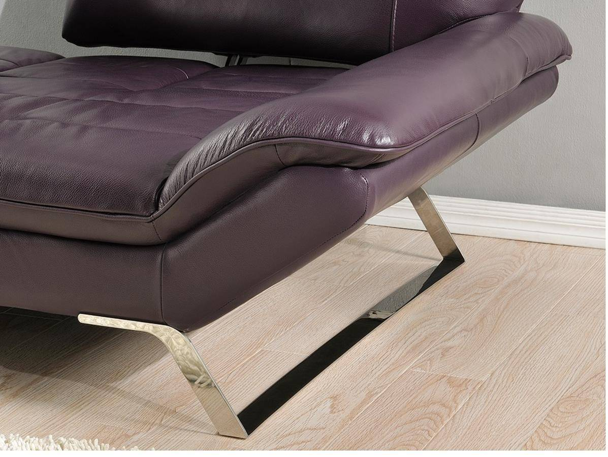 Magnificent At Home Usa Roxi Eggplant Full Italian Leather Chair Evergreenethics Interior Chair Design Evergreenethicsorg