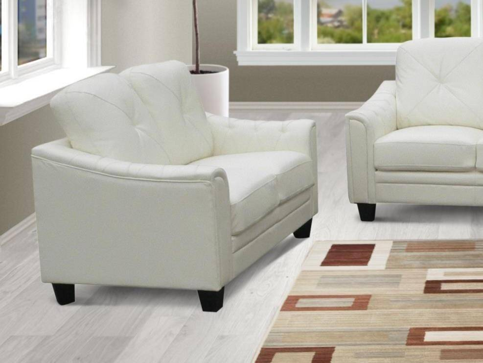 Prime Myco Furniture Walden Modern White Bonded Leather Living Theyellowbook Wood Chair Design Ideas Theyellowbookinfo