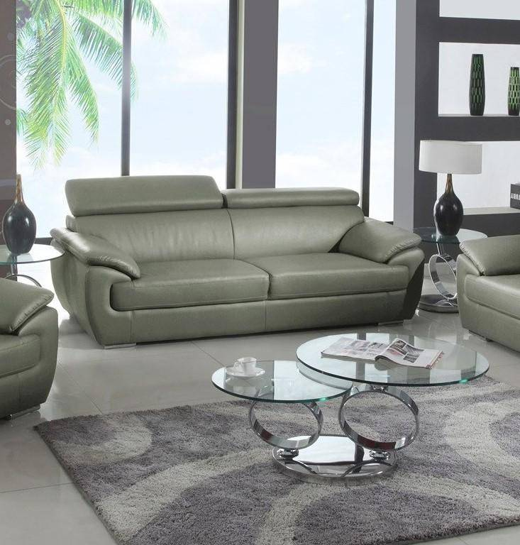 Outstanding Contemporary Gray Leather Match Sofa Loveseat Set 2Pcs Andrewgaddart Wooden Chair Designs For Living Room Andrewgaddartcom