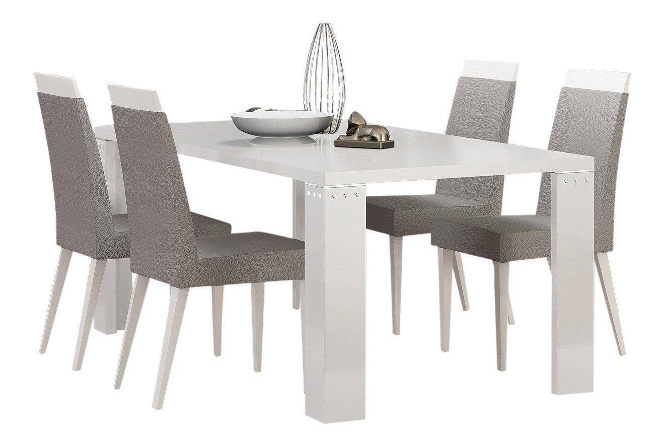 Diamond White Usa >> At Home Usa Elegance Diamond White Lacquered Luxury Dining