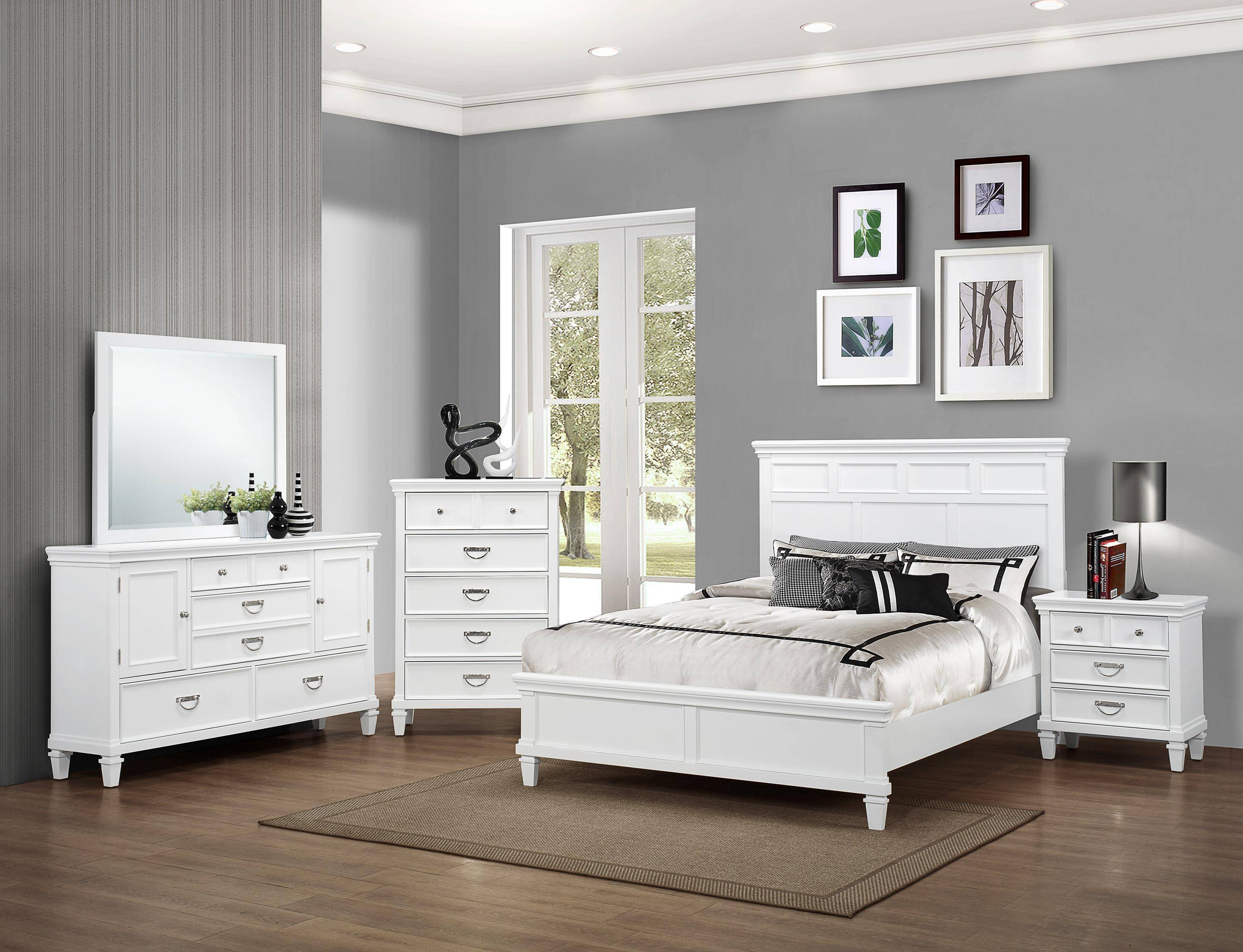 crown mark b9100 hannah classic white finish solid wood