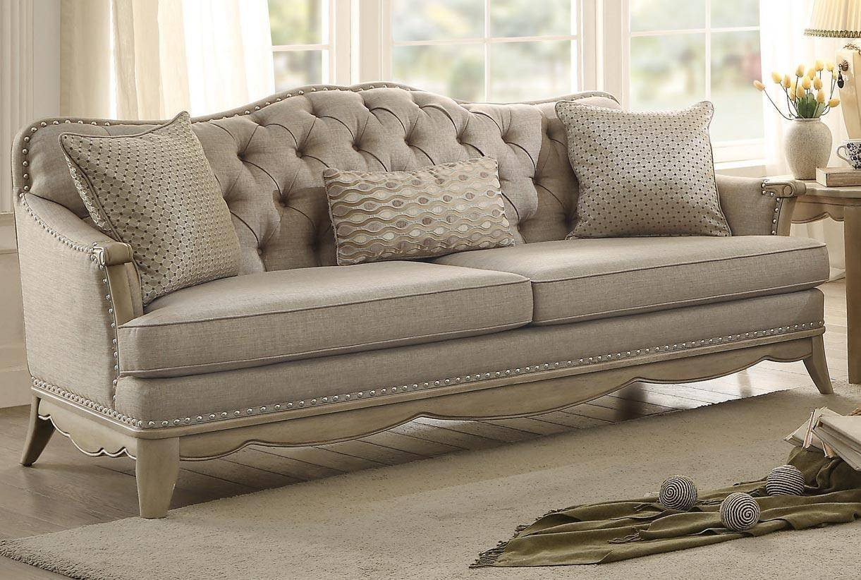 appealing traditional fabric sofas living room furniture | Homelegance 8313 Ashden Beige Fabric Sofa Living Room Set ...