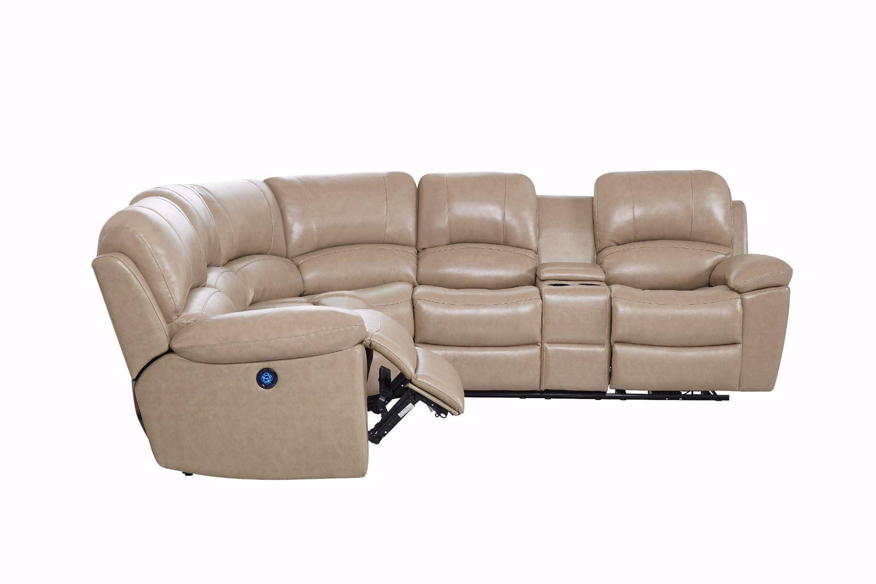 Global Furniture U15026 Glove Tan Leather Reclining ...