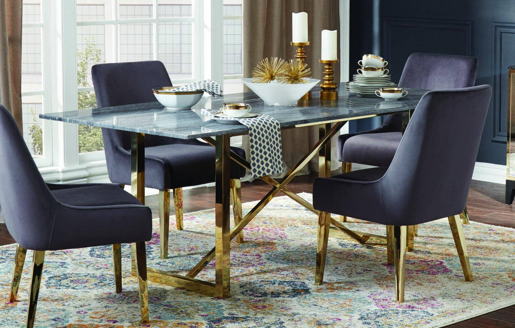 Magnificent Modern Black Gold White Metal Stone Dining Table Arcade By Caraccident5 Cool Chair Designs And Ideas Caraccident5Info